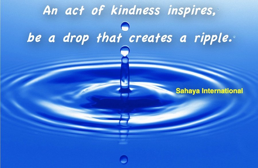 Be a drop that creates a ripple