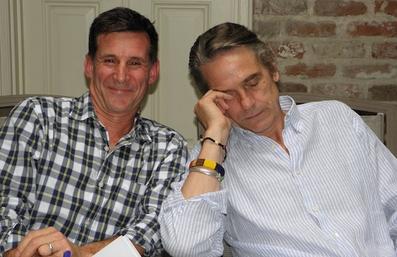 Andy Lauer and Jeremy Irons